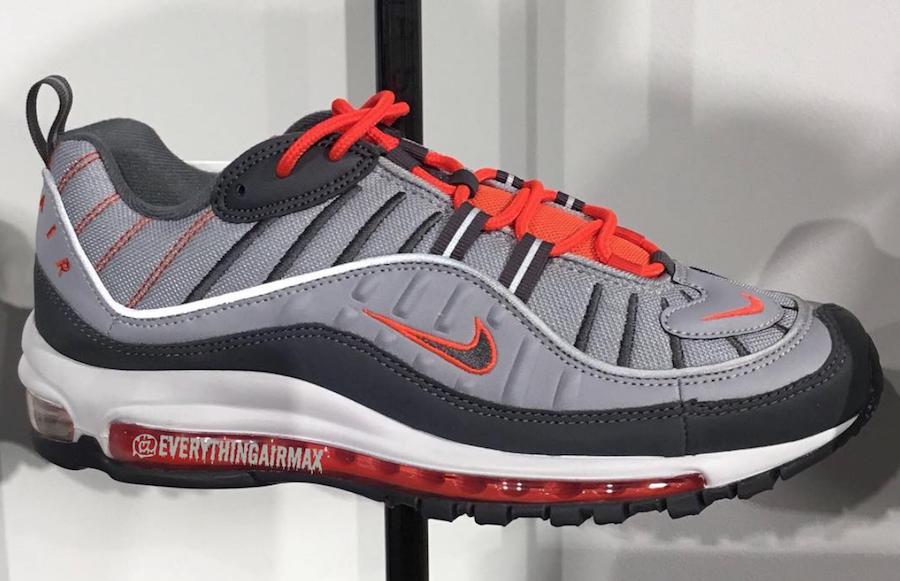 Nike Air Max 98 Dark Grey Wolf Grey Total Crimson