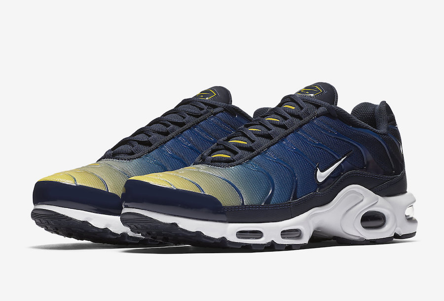 Nike Air Max Plus Blue Yellow Gradient 852630 407 | SneakerFiles