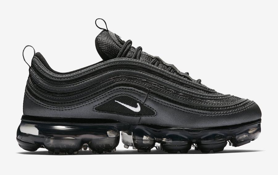Nike Aire Vapormax 97 De Vinilo Reflectante Negro RhVDySD