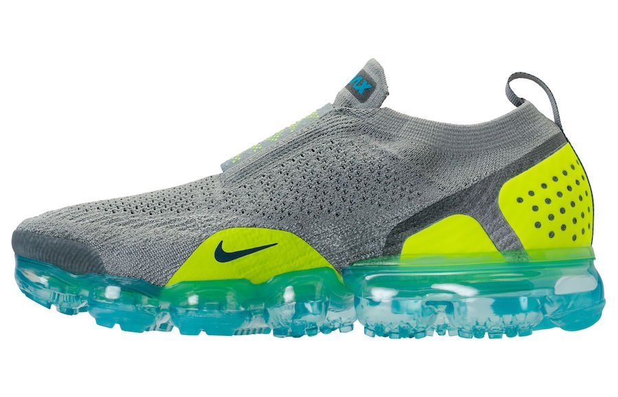 Nike Air VaporMax Flyknit Moc 2 Mica Green Volt Neo Turquoise AH7006-300