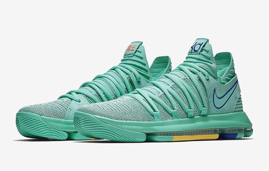 new product cbacd f9fbd Nike KD 10 City Edition 2 Hyper Turquoise 897816-300