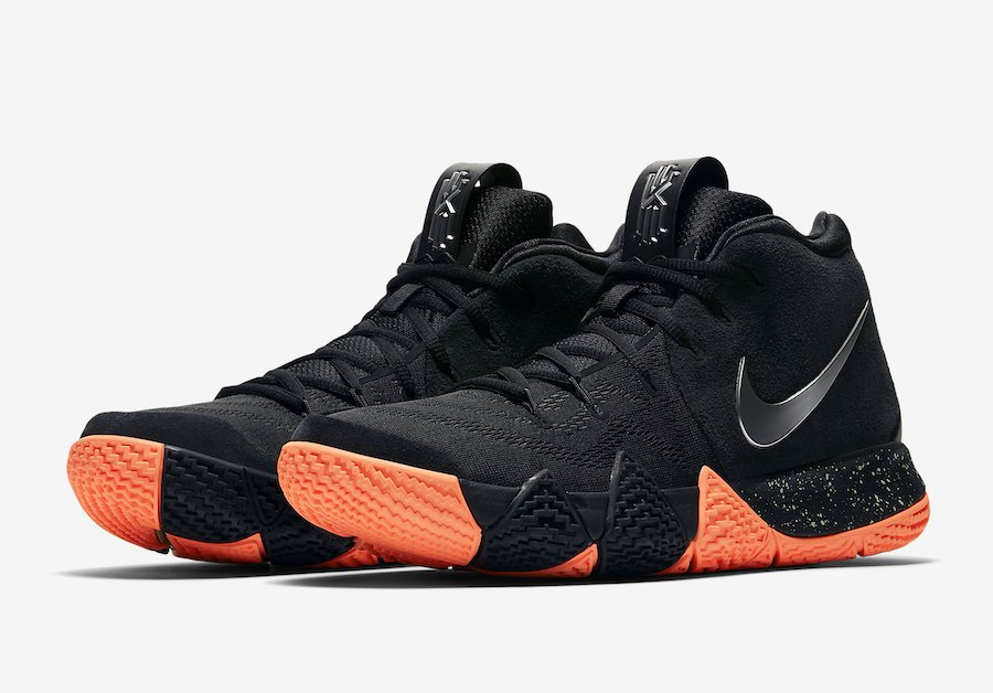 new arrival f4bac fdb58 Nike Kyrie 4 Black Silver Orange 943806-010 | SneakerFiles