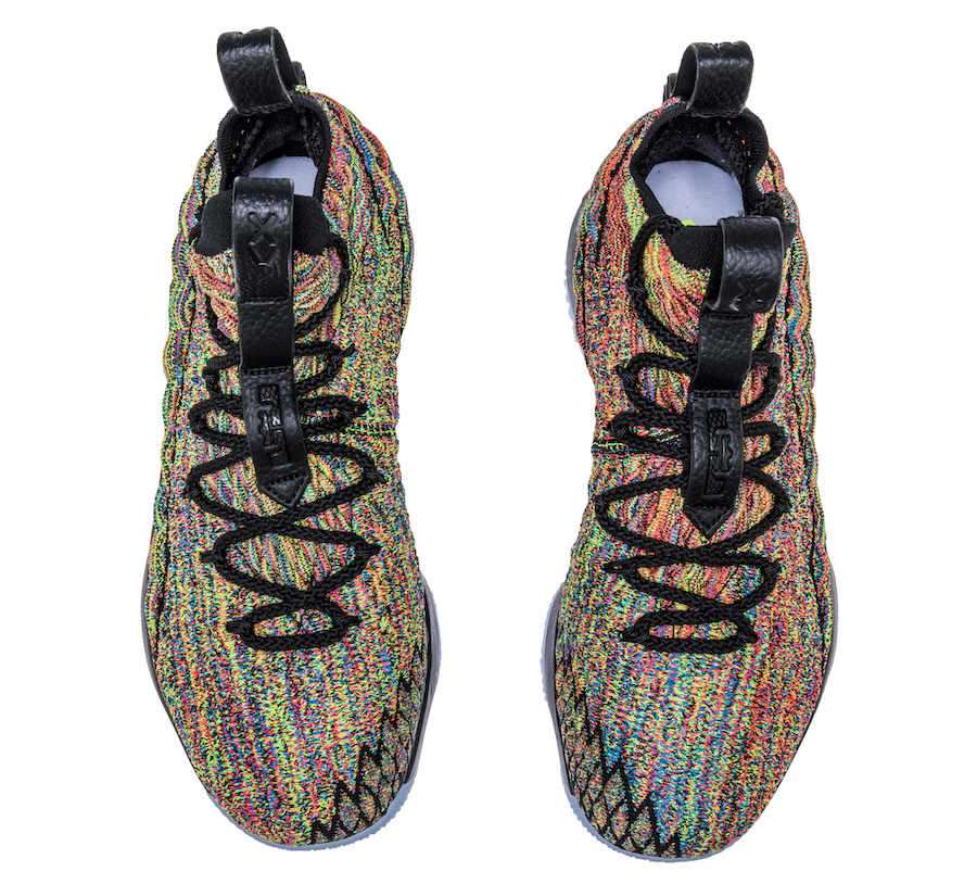 new product 51a75 ad0c3 Nike LeBron 15 Fruity Pebbles Black 897648-901 | SneakerFiles
