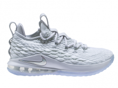 Nike LeBron 15 Low White Metallic Silver AO1755-100