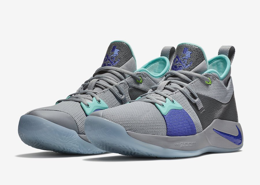 Nike PG 2 Pure Platinum Neo Turquoise Wolf Grey Aurora Green AJ2039-002