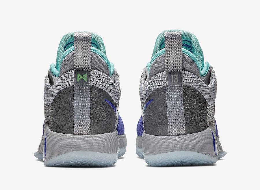 98f5fff1ab6e Nike PG 2 Pure Platinum Neo Turquoise Wolf Grey Aurora Green AJ2039-002