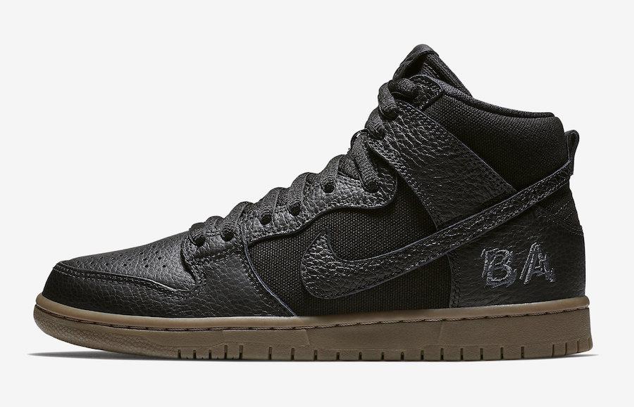 Nike SB Dunk High Brian Anderson AH9613-001 Black Gum