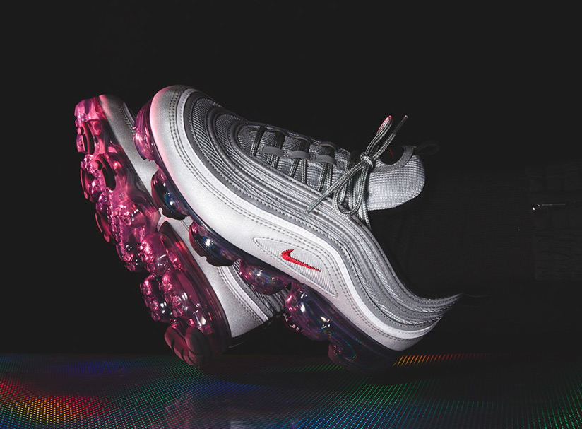 buy online 125a3 df783 Nike VaporMax 97 Silver Bullet On Feet