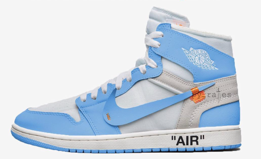 Off-White Air Jordan 1 Powder Blue AQ0818-148