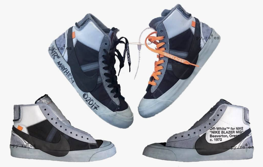 Off-White Nike Blazer Studio Mid AA3832-001 Grey