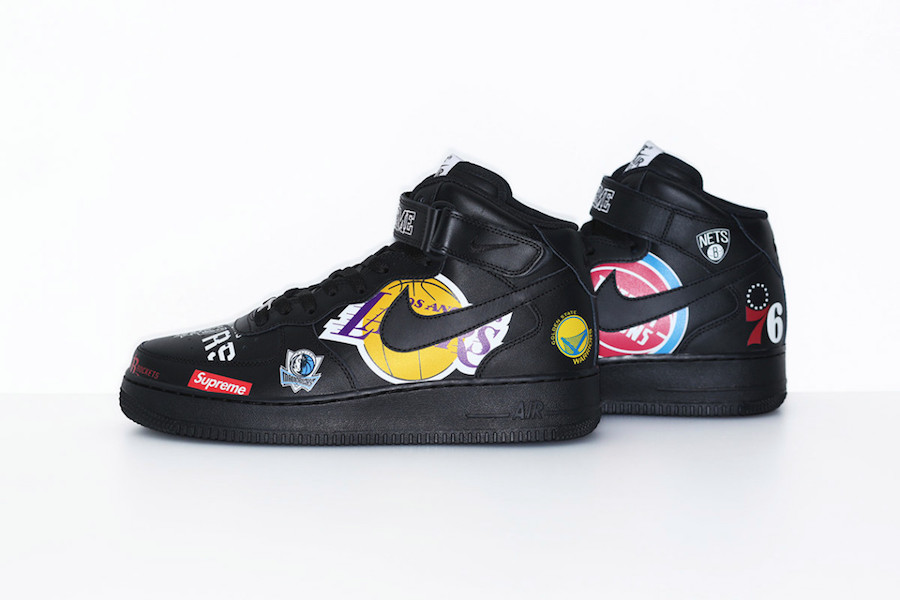 Supreme NBA Nike Air Force 1 Mid Black