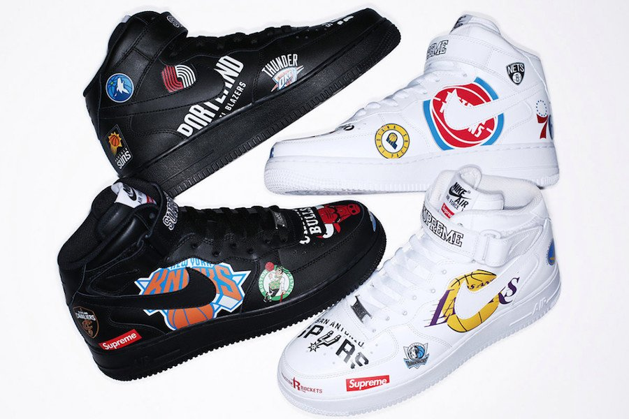 Supreme NBA Nike Air Force 1 Mid Black White
