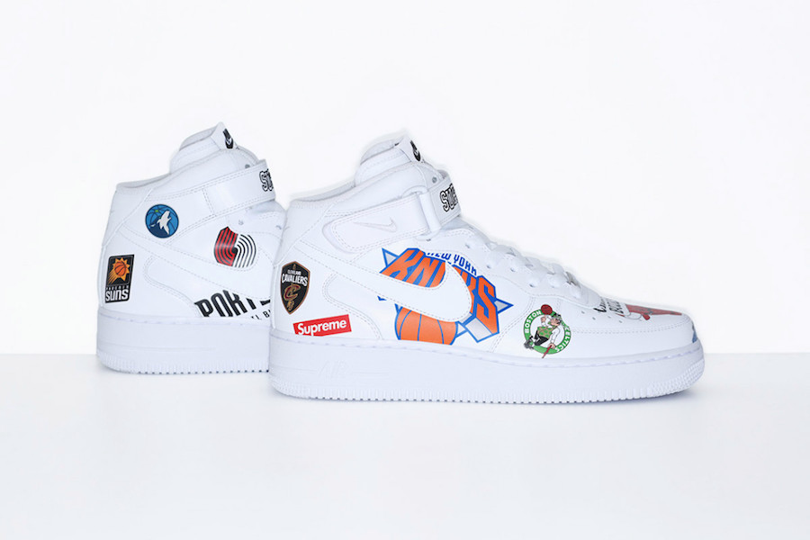 nike air force 1 supreme x nba