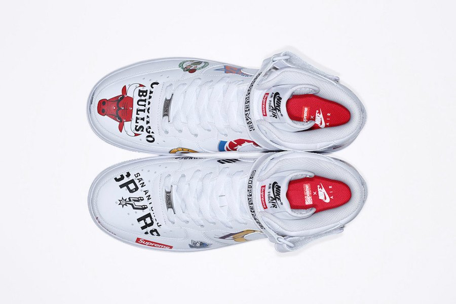 Supreme NBA Nike Air Force 1 Mid White