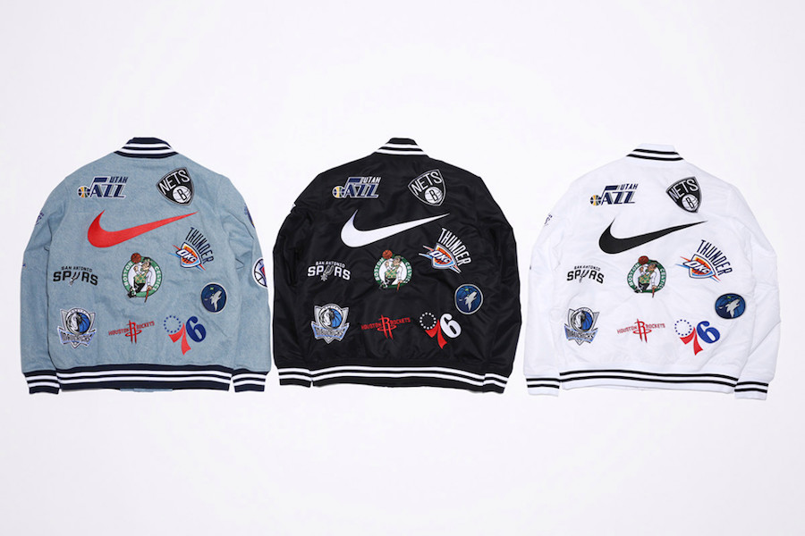 Supreme NBA Nike Jacket Collection