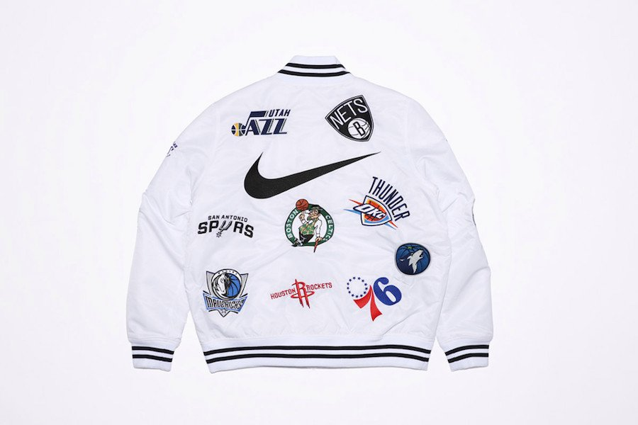 Supreme NBA Nike Jacket White