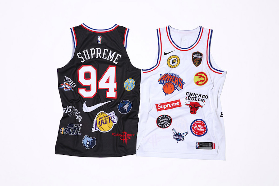 Supreme NBA Nike Jersey Black White