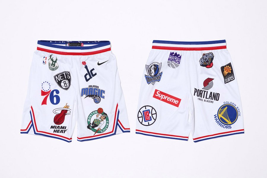 Supreme NBA Nike Shorts White