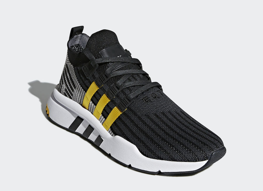 adidas EQT Cushion ADV Mid Black Yellow Stripes CQ2999