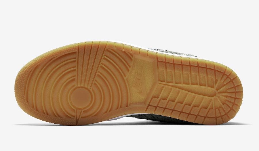 Air Jordan 1 Flyknit Clay Green White Hyper Cobalt Gum Yellow 919704-333