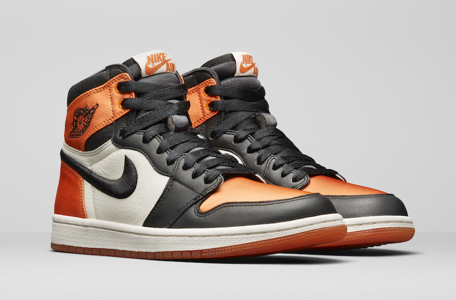 Air Jordan 1 Satin Shattered Backboard Black Starfish Sail AV3725-010