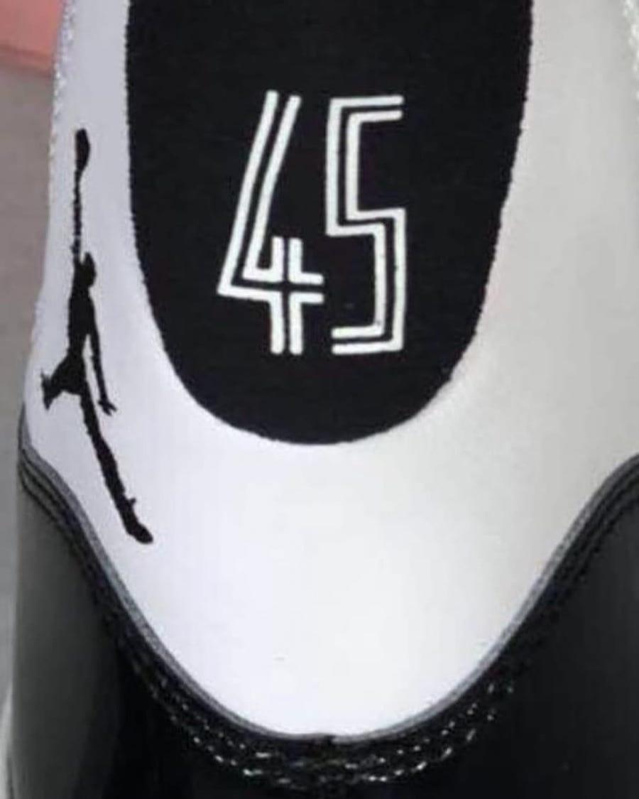 Air Jordan 11 Concord 2018 45 Heels Leak