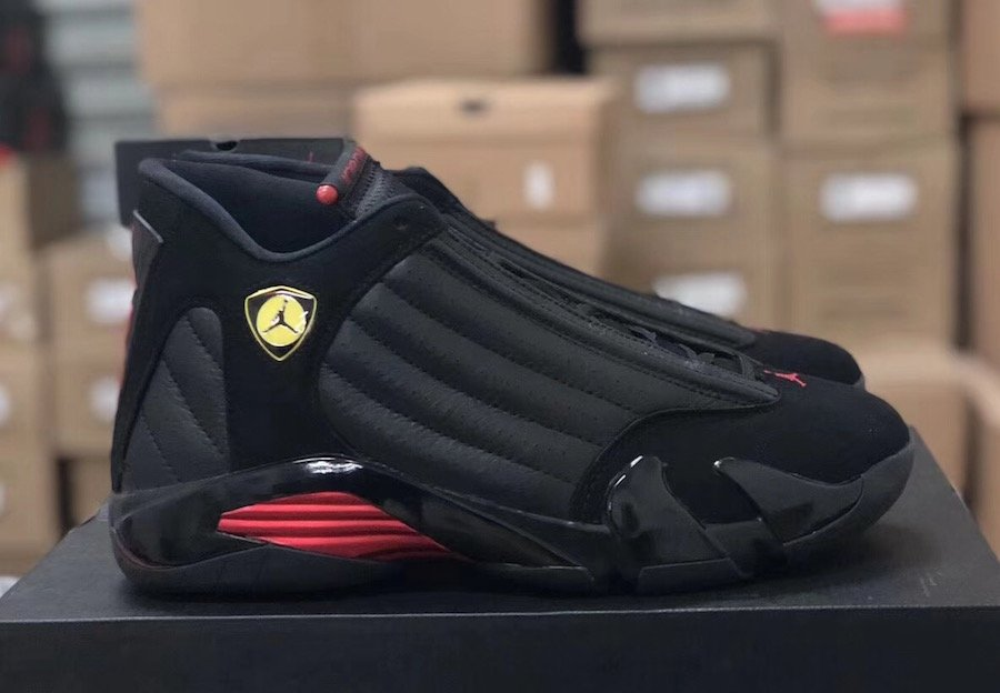 low priced 3cd2d c36eb Air Jordan 14 Last Shot 2018 Black Red 487471-003