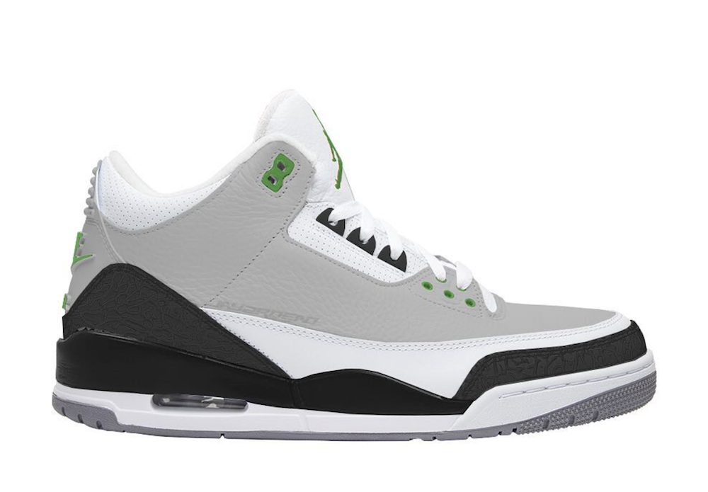 Air Jordan 3 Chlorophyll 2018 Nike Air Trainer 1