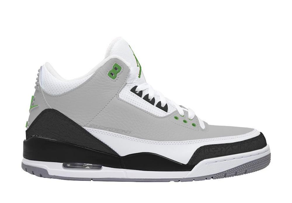 ddf6b7a91a07a5 Air Jordan 3 Chlorophyll 136064-006 Release Date