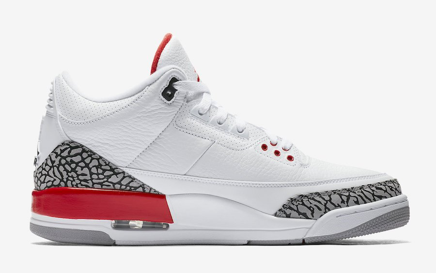 Air Jordan 3 Katrina White Red 136064-116