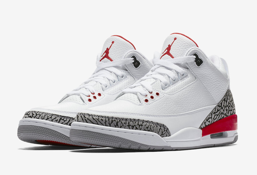Air Jordan 3 Katrina White Red 136064-116 aa444c413c40