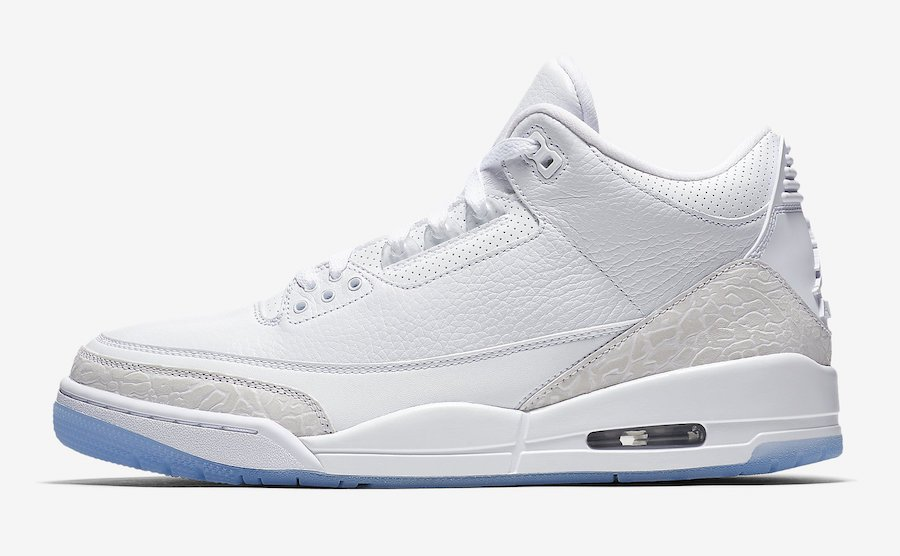Air Jordan 3 Pure Triple White 136064-111