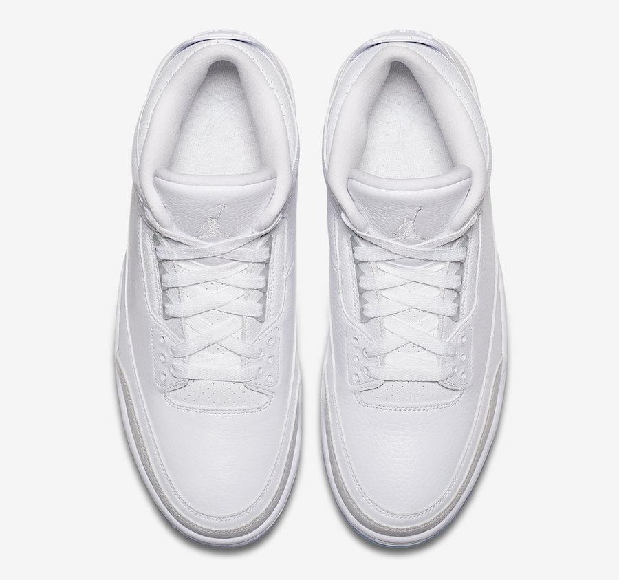 Air Jordan 3 Pure Triple White 136064-111