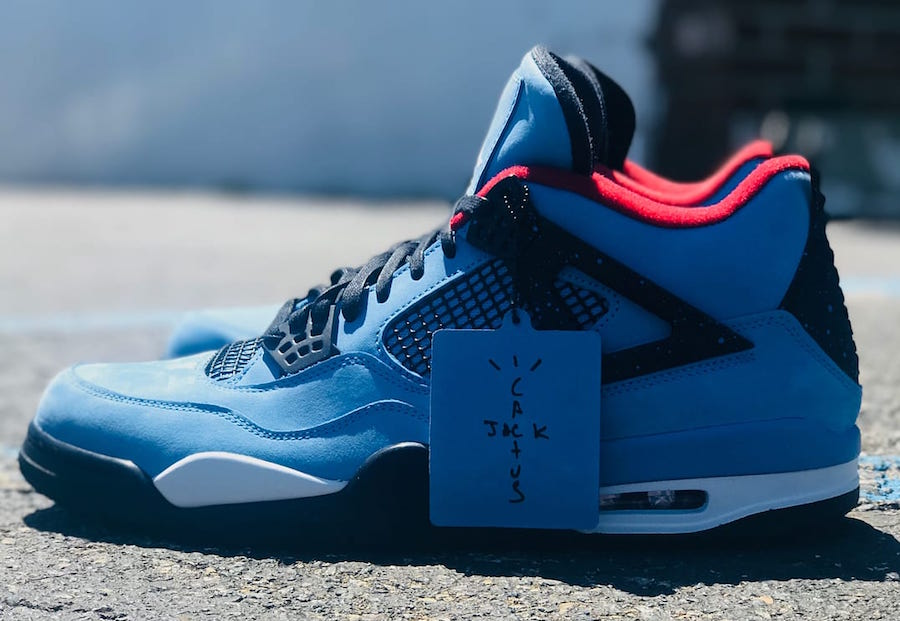 on sale 8536a 9c509 Air Jordan 4 Houston Oilers Travis Scott 308497-406