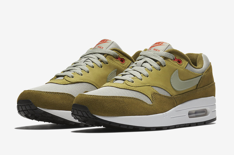 atmos Nike Air Max 1 Green Curry 908366-300