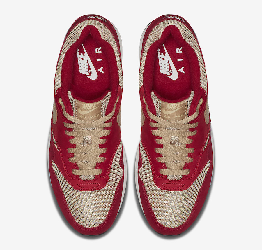 atmos Nike Air Max 1 Red Curry 908366-600