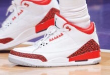 Chris Paul Air Jordan 3 Red Cement
