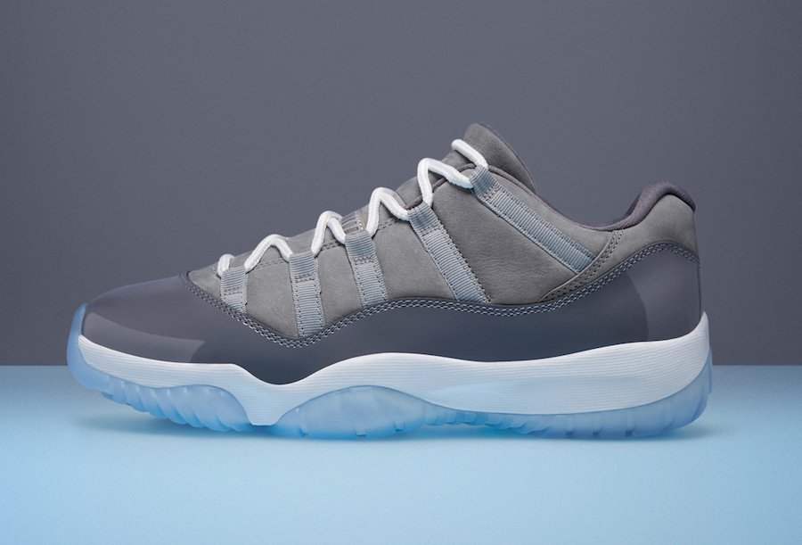 Cool Grey Air Jordan 11 Low 2018