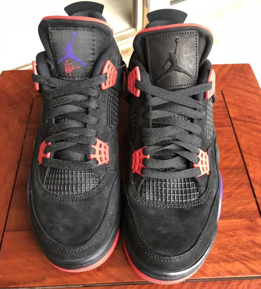 Drake Air Jordan 4 Raptors Tongue