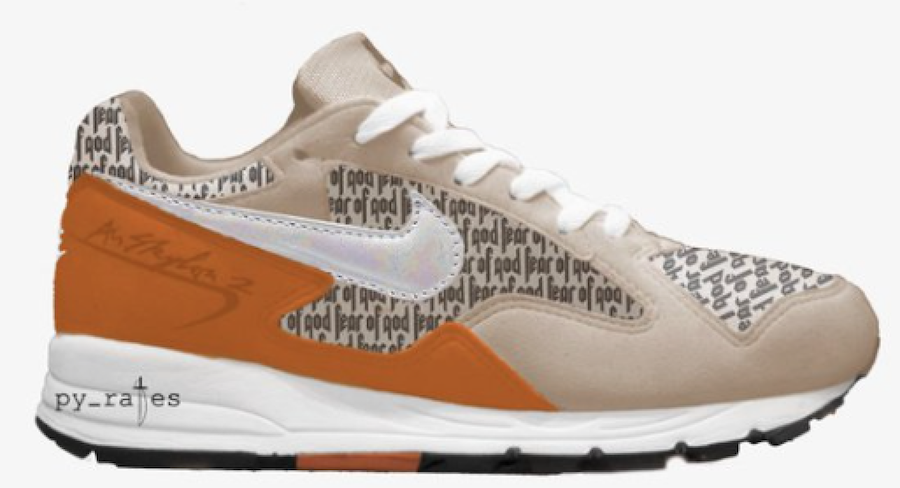 Fear of God x Nike Air Skylon 2 Light Orewood Brown Fuel Orange