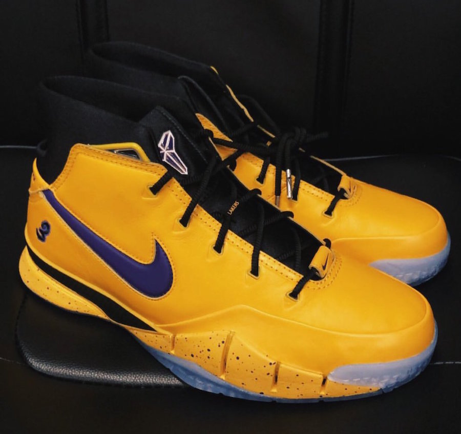 buy popular 0eb02 08f40 Isaiah Thomas Nike Kobe 1 Protro Lakers PE