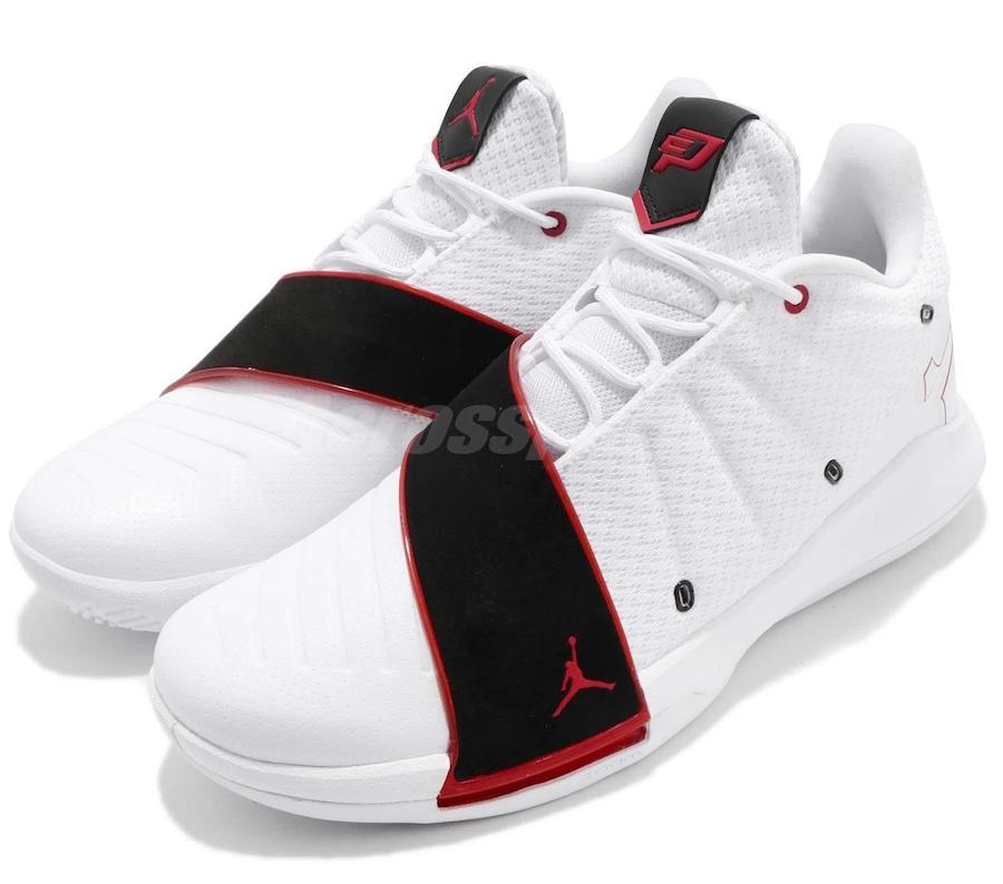 Jordan CP3 XI Home White University Red Black AA1272-101