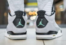 Jordan Son of Mars Low Wolf Grey Green Glow
