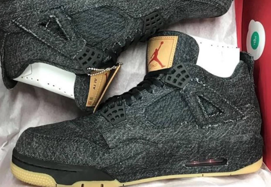 Levis Air Jordan 4 Black Denim First Look