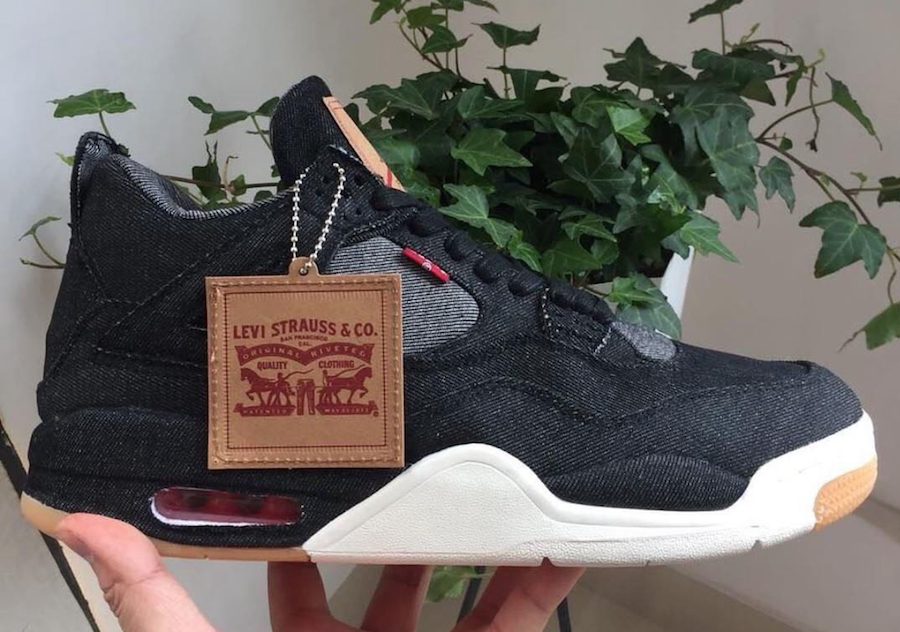 Levis Black Denim Air Jordan 4