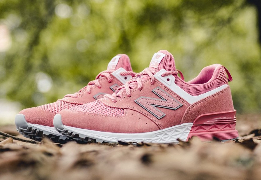 New Balance 574 Pink Suede