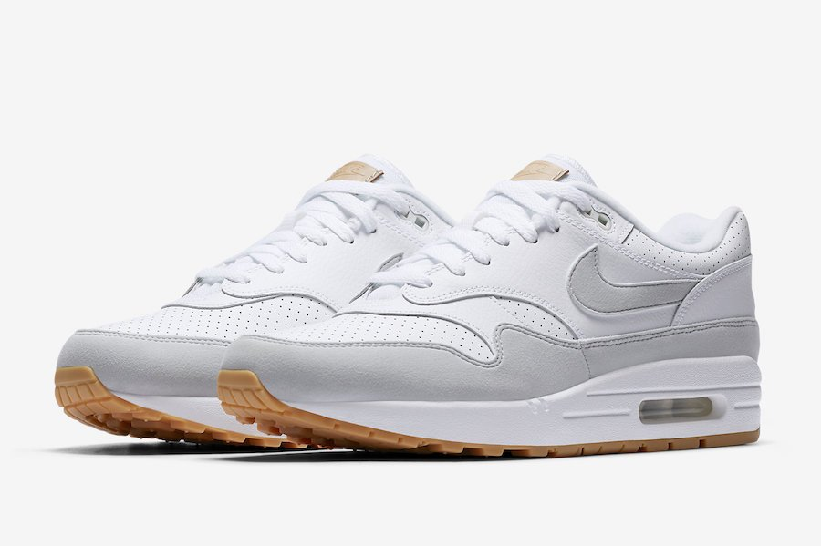 new arrival 3fad4 76757 Nike Air Max 1 White Pure Platinum Gum Yellow AH8145-103