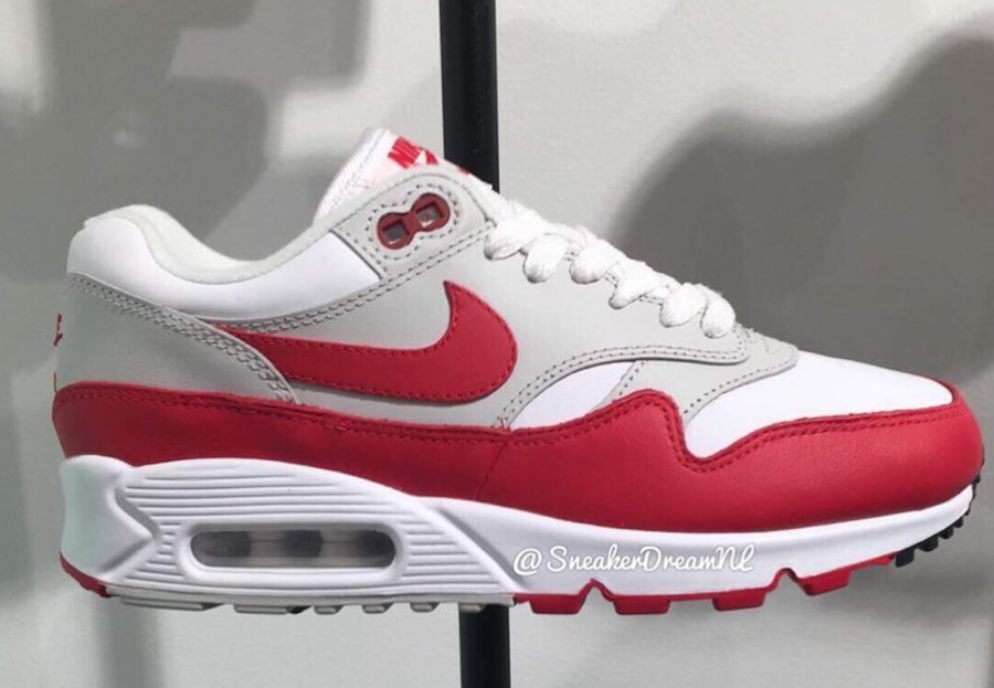 detailed look d36ab 641cc Nike Air Max 90 1 White Red