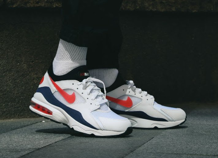 Nike Air Max 93 Flame Red On Feet