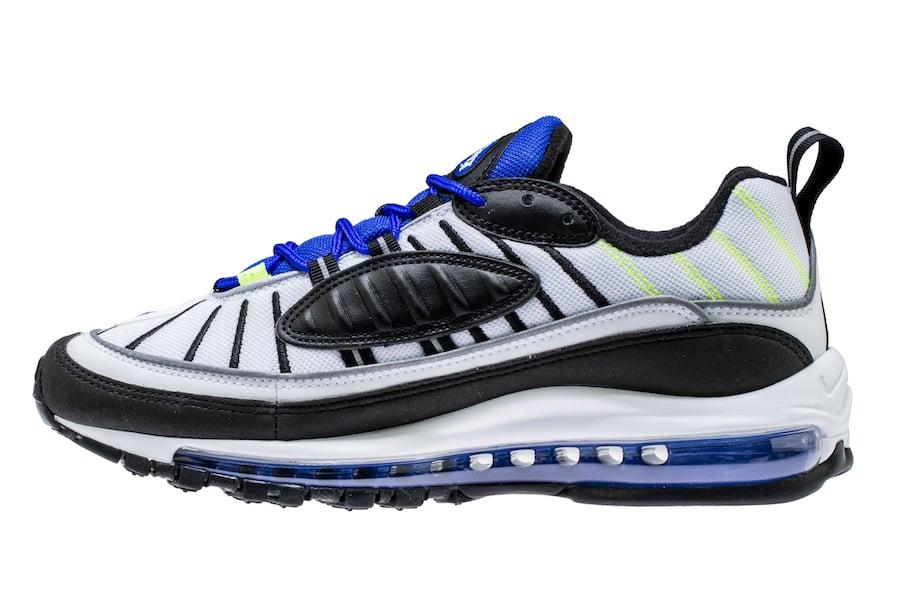 Nike Air Max 98 White Racer Blue Volt 640744-103  7371d0eac